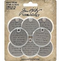 Tim Holtz - Idea-ology - Quote Tokens